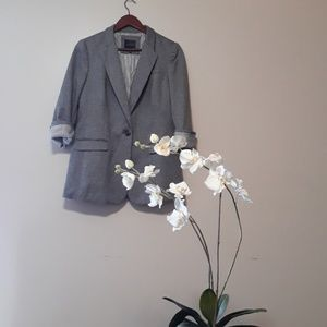 The Limited  Gray Soft Structured Casual Blazer